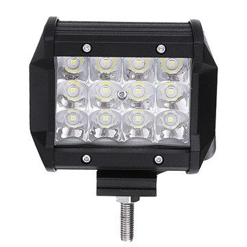 4Inch LED Barra de luz de trabajo Punto de inundación Combo Beam 9-32V 36W para Off Road Truck Trailer