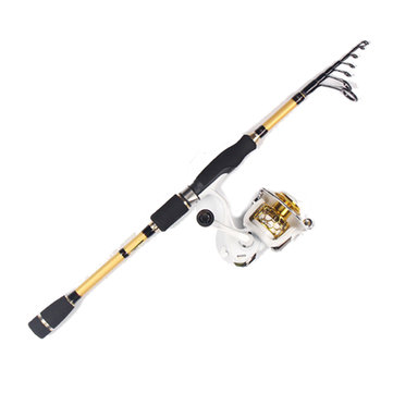 ZANLURE 1.95-2.7m Carbon Telescopic Fishing Rod 5.2:1 9+1BB Reel Spinning Fishing Rod Reel Combo