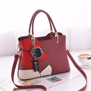 Women Faux Leather Crossbody Bag Patchwork Handbag