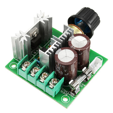 5pcs DC 12V-40V 10A 13Khz Motor Speed Controller Pump PWM Stepless Speed Change Speed Control Switch Large Torque 50V 1000uF Large Capacitor IRF3205 Power Tube With Over-Voltage Protection Function