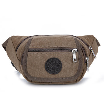 Men Canvas Outdoor Chest Bag Multifunctional Casual Crossbody Bag