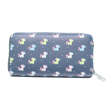 Multifunctional Women Pattern Zipper Bag Long Wallet Purse Phone Case for iPhone Samsung Xiaomi