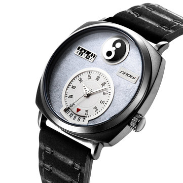 SINOBI 9772 Unique Dial Display Date Display Men Wrist Watch