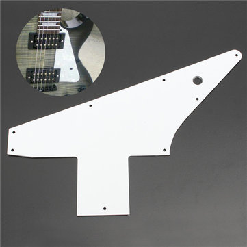 3 Ply White 76 Reissue Style Voor Gibson Explorer Guitar Pickguard Pick Guard