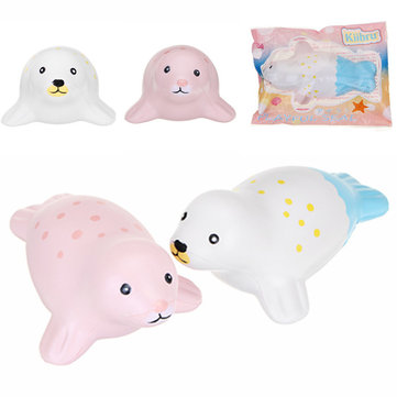 Kiibru Squishy Seal 15cm Slow Rising Original Packaging Animal Squishy Scented Original Package Kids