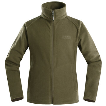Soft Shell Spring Autumn Polartec Fleece Outdooors Sports Jacket Pure Color Basic Zipper Men Coat