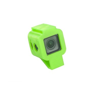 RJX Mini Camera Mount 30 Degree TPU Protective Case 3D Printed for FOXEER BOX 4K FPV RC Drone Black Green