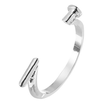 Smooth Opening Simple Nail Ring Adjustable Finger Ring