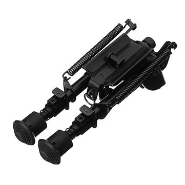 6-9 Inches Pendulum Head Swing Tactical Bipod Adjustable Spring Sling Notch Leg Stud Mount