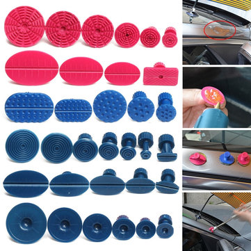 33pcs Nylon Car Dent Repair Pulling Tabs Paintless Body Slide Damage Removal Tool