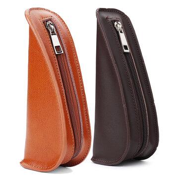 Original 185x77x55mm Portatubos de cuero portátil Bolsa Pipe Pouch Handheld Caso