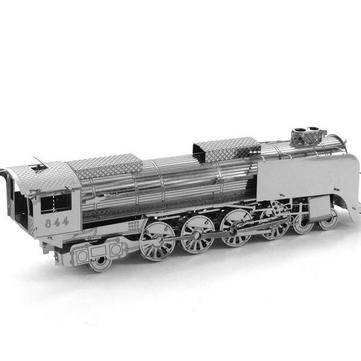 AIPIN 3d diy rompecabezas de acero inoxidable modelo kit tren plata color