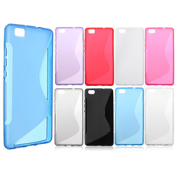 Durable Ultra Thin S Line Soft TPU Gel Back Cover Case For Huawei Ascend P8 Lite