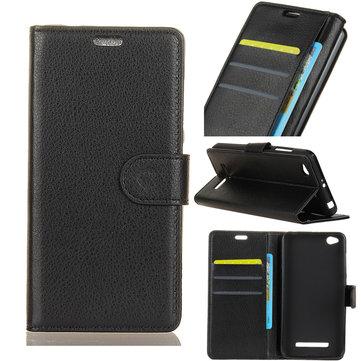 Flip Litchi Wallet Card Slot Stand PU Leather Case Xiaomi Redmi 4A/Xiaomi Redmi 4A Global Edition