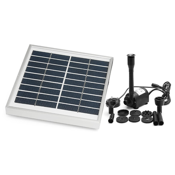 6-24V Solar Water Fountain Pump Water Pump Solar Panel DC Brushless Pumps Kit With 8 Nozzles 1200LPH