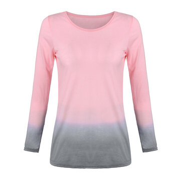 Casual Women XS-5XL Gradient Color T-shirt