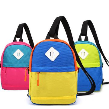 Kids Bag Children Small Shoulder Bags Fashion Contrasting Casual Backpack Satchel