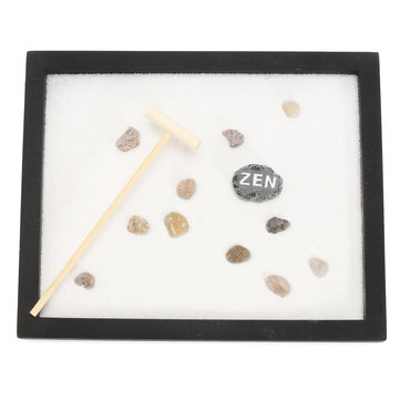 Yoga Meditation Zen Garden Japanese Rock Gardens Kits Feng Shui Decor Sand Table Top Rake