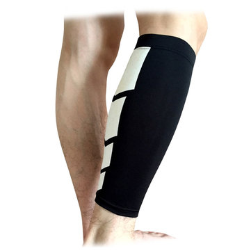 Sports Support Knee Sleeve Calf Leg Compression Socks Brace Guard Basketball Protector