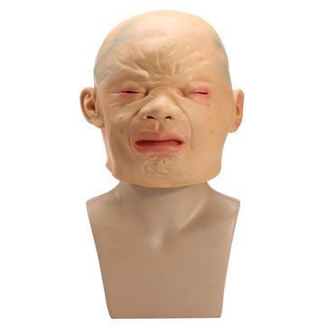 Latex Full Head Cry Baby Mask For Cosplay Halloween Party Costume