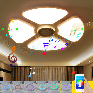 48W/72W RGB LED Ceiling Lights Chandelier Bluetooth Music Lamp with Speaker Intelligent APP Control