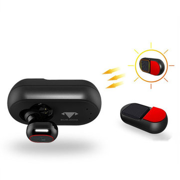 BUlEJDOG Solar Energy Car Wireless Bluetooth Earphone Magnet Charging Dual Noise Cancelling Earphone
