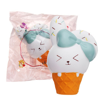 Ice Cream Rabbit Squishy Animal Slow Rising Soft Toy With Packing Gift