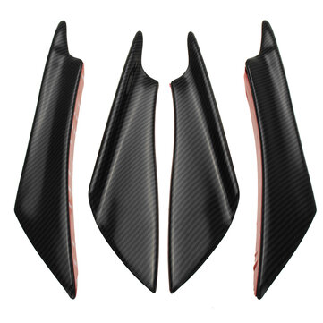 4pcs Universal Car Body Spoiler Front Bumper Spoiler Canards Lip Splitters Trim