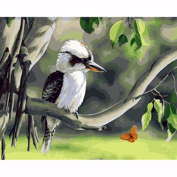 40X50CM Bird On Tree Painting DIY Self Handicraft Paint Kit Wood Unframed Home Decoration