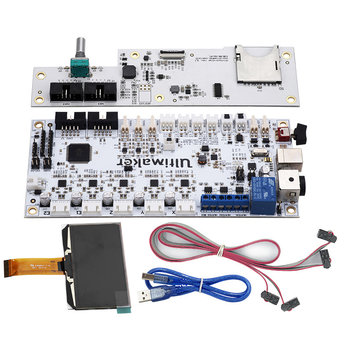 UM2 Ultimaker V2 Integrated Circuit Mainboard with OLED Screen Kit for 3D Printer Support Single/Dual Nozzle Printing
