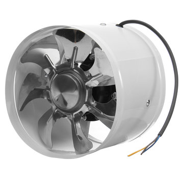 8 Inch Inline Duct Fan Booster High Speed Exhaust Blower Ventilator Fan Air Vent