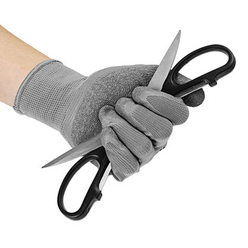 Nylon Latex Wrinkles Gloves Labor Safety Gloves Cut-resistant Wear-resistant Non-slip Gloves