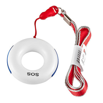 KERUI E8 Portable 433MHz Wireless SOS Emergency Necklace Button Key Alarm Sensor with LED Indicator