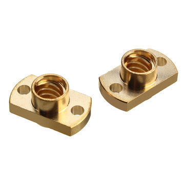 2Pcs Brass T8 Lead Screw Nut Pitch 2mm for Stepper Motor 3D Printer Part