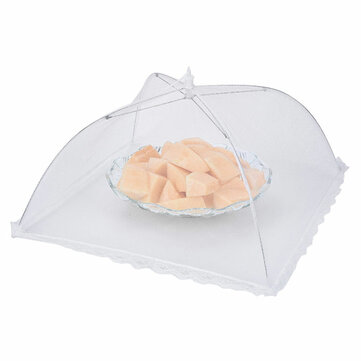 Folding Fly-proof Dirt-resistant Food Shield Gauze Umbrella Food Cover Picnic Kitchen Anti Fly Mosquito Net Table Tent Meal Cover Table Mesh Food Cover Kitchen Tools