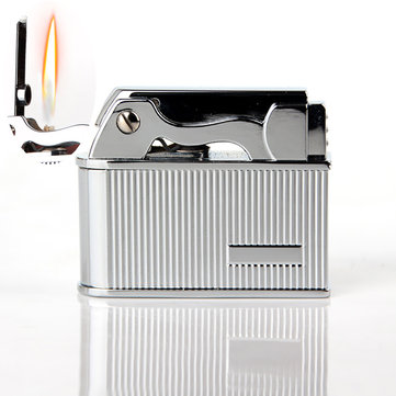 IPRee® Metal Kerosene Lighter Vintage Electroplating Refillable Ignitor Starter Retro Lighter