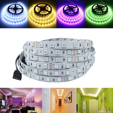 5M 72W SMD 5050 Non-waterproof RGB/White/Warm White 300 LED Strip Light Tape Lamp Home Decor DC24V