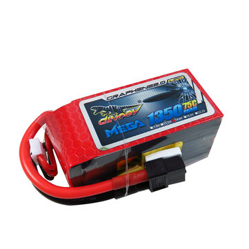 Giant Power DINOGY MEGA GRAPHENE 2.0 14.8V 1350mAh 4S 75C Lipo Battery XT60 For FPV Racing Drone