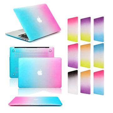 التدرج اللون الترا سليم خفيفة الوزن خدش برهان قوس قزح حالة تغطية ل Macbook Air 11.6 بوصة