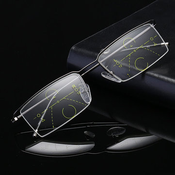 Half Rim Progressive Multifocal Reading Glasses