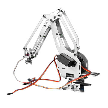 KDX DIY 6DOF Aluminum Robot Arm 6 Axis Rotating Mechanical Robot Arm Kit With 5 Servos