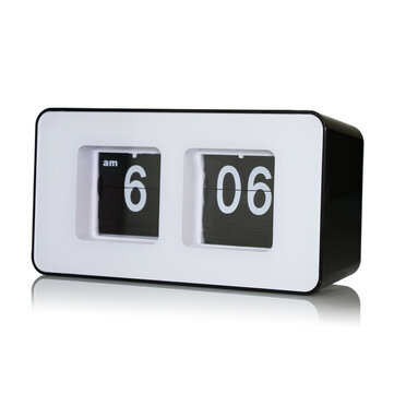Retro Flip Classic Stylish Desk Auto Modern Clock