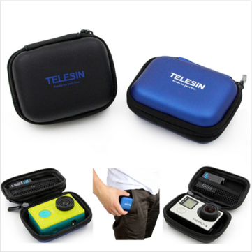 TELESIN Mini Protective Camera Case Bag For GoPro 4 3 3 2 1 Plus Xiaomi Yi Camera