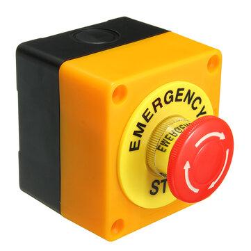 Interruptor de Botón de Parada de Emergencia Impermeable 1 NO 1 NC 10A 660V