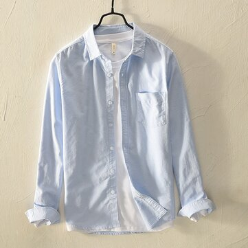 Mens Chest Pocket Fashion Casual Shirts