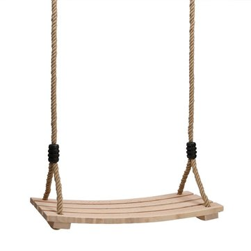 Wood Hanging Rope Swing Seat Kid Adult Outdoor Backyard Playground Children Play