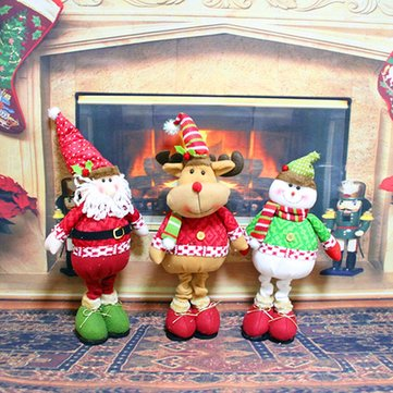 Cute Christmas Idol Toy Santa Claus Snowman Deer Ornaments Gift Xmas Home Decor
