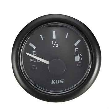 KUS Fuel/Water Level Gauge Marine/Boat Tank Level Indicator Black 52mm 0-190Ω