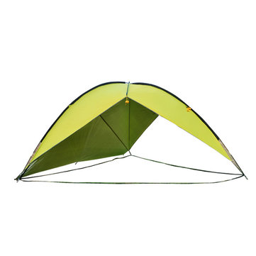 Outdoor Large Triangle Single Side Camping Tent Beach Sunshade Canopy Awning
