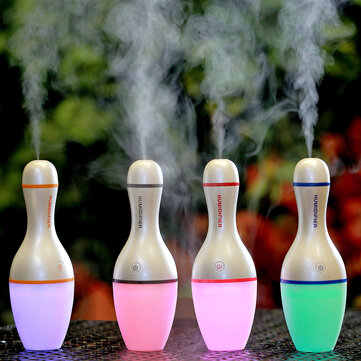 Bowling Bottle Humidifier Aromatherapy Air Purifier with Night Light for Car Home Office Camping